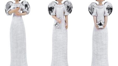 Sada 3 dekorativních andělíčků v kulichu Ego Dekor