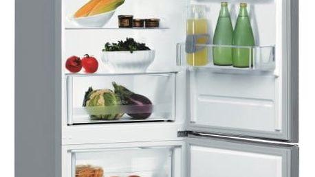 Kombinace chladničky s mrazničkou Indesit LR6 S2 X nerez + DOPRAVA ZDARMA