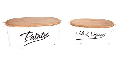 Sada 2 úložných boxů na brambory a česnek Antic Line