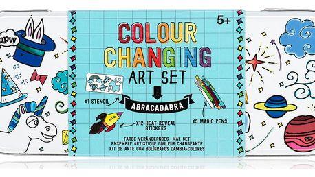 Set šablony, pěti fix a samolepek NPW Magic Art Set