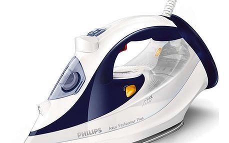 Žehlička Philips Azur Performer Plus GC4506/20 bílá/modrá