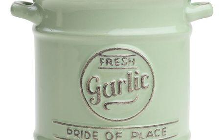 Zelená keramická dóza na česnek T&G Woodware Pride Of Place