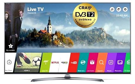Televize LG 55UJ7507 stříbrná/titanium + Doprava zdarma