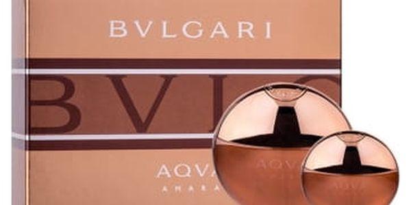 Bvlgari Aqva Amara 100 ml dárková kazeta dárková sada pro muže toaletní voda 100 ml + toaletní voda 15 ml