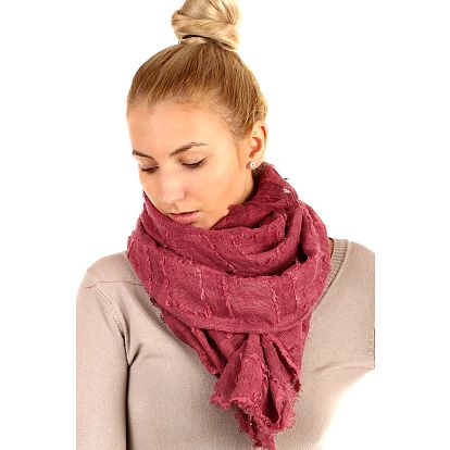 Čtvercový šátek cihlová