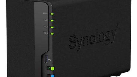 Datové uložiště (NAS) Synology DS218+ (DS218+) černé + Doprava zdarma
