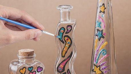 Sada na malování skla s vázičkami 3 ks