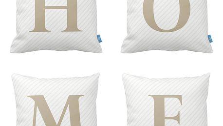 Sada 4 polštářů Homemania Home, 43x43cm - doprava zdarma!