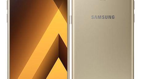 Mobilní telefon Samsung A5 (2017) (SM-A520FZDAETL) zlatý Software F-Secure SAFE 6 měsíců pro 3 zařízení v hodnotě 979 Kč + DOPRAVA ZDARMA