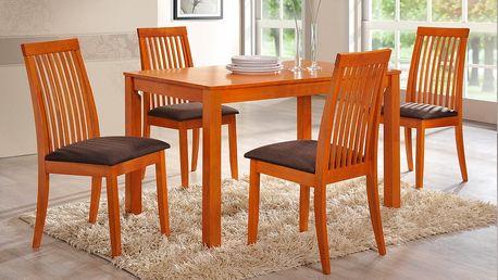 Jídelní stůl ERIK + židle ZORA 1+4