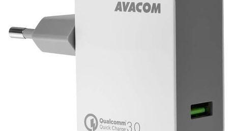 Nabíječka do sítě Avacom HomeMAX, 1x USB (3A), s funkcí rychlonabíjení QC 3.0 (NASN-QC1X-WW) bílá