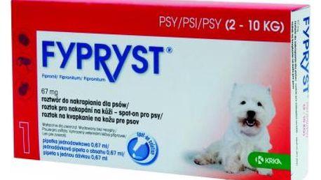 Fypryst Dogs 1 x 0.67 ml spot-on pro psy (2-10 kg)