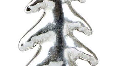 Dekorativní keramická soška ve stříbrné barvě KJ Collection Snowy Tree Silver, 15 cm