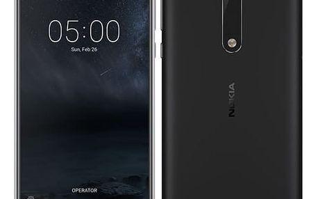 Mobilní telefon Nokia 5 Single SIM (11ND1B01A12) černý + DOPRAVA ZDARMA