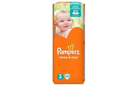 Pampers Sleep & Play 3 midi 4 - 9 kg 58 kusů