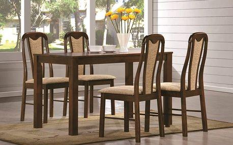 Jídelní stůl NILO + židle JANA