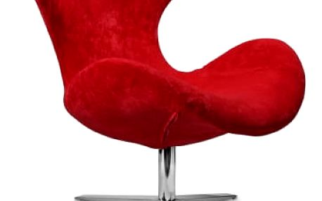 Blazer - Křeslo (látka červená/noha chrom)
