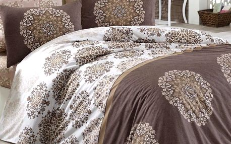 BedTex Bavlněné povlečení Oskar hnědá, 140 x 200 cm, 70 x 90 cm, 140 x 200 cm, 70 x 90 cm