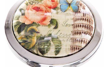 Kapesní kosmetické zrcátko Italy růže