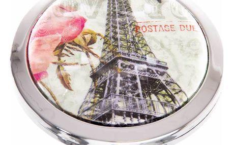 Kapesní kosmetické zrcátko Paříž a růže