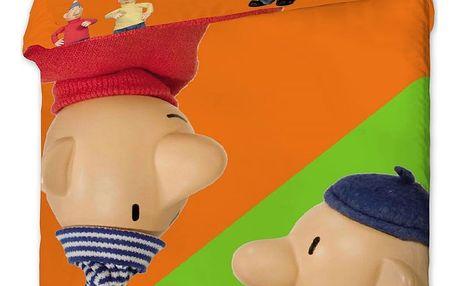 Jerry Fabrics Dětské povlečení Pat a Mat orange, 140 x 200 cm, 70 x 90 cm