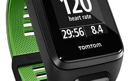 GPS hodinky Tomtom Runner 3 Cardio (S) (1RK0.001.01) černé/zelené + DOPRAVA ZDARMA