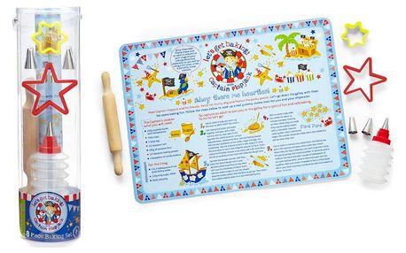 Zdobící set na cukroví pro děti Cooksmart England Pirate, 8 ks