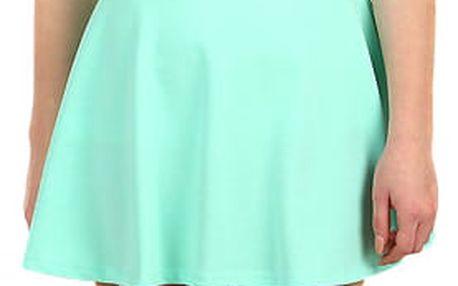 Jednobarevná dámská krátká sukně tyrkysová