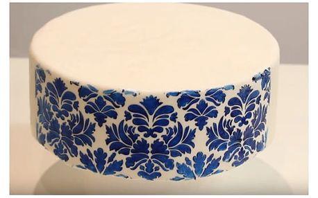 Dekorativní plastové šablony na dort 6ks