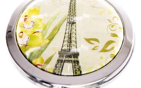 Kapesní kosmetické zrcátko Paris zelené