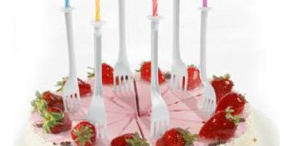 Vidličko-svíčky na dort - originální k narozeninovému dortu!