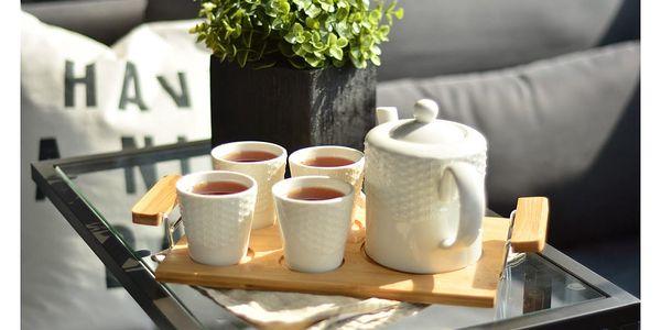 Porcelánový čajový set s bambusovým podnosem Bambum Siam2
