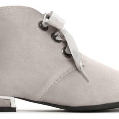 Dámské světle šedé kotníkové boty Briana 3106