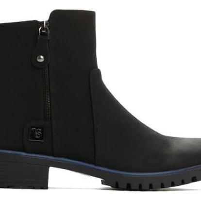 Dámské černé matné kotníkové boty Alicia 2132a