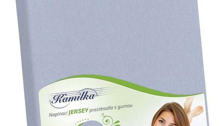 Bellatex Jersey prostěradlo Kamilka světle šedá, 200 x 220 cm
