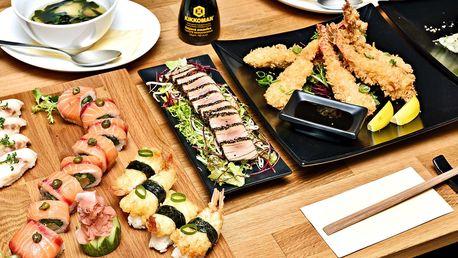 Degustační sushi menu pro dva i s polévkou Miso