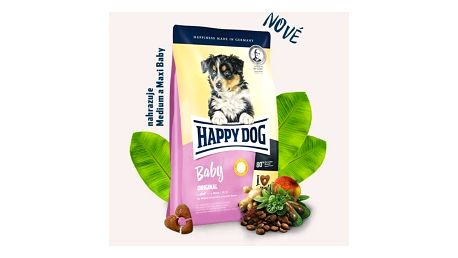 Granule HAPPY DOG Baby Original 10 kg Konzerva HAPPY DOG Rind Pur - 100% hovězí maso 200 g (zdarma)