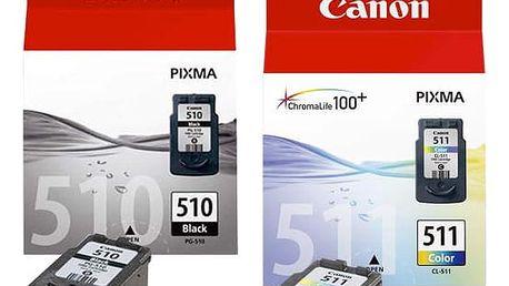 Inkoustová náplň Canon PG-510 / CL-511, 9ml - originální (2970B010) černá/červená/modrá/žlutá