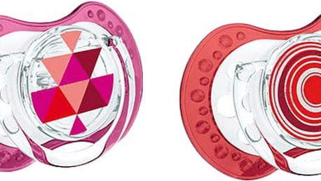 LOVI Šidítko silikonové symetrické dynamické Etno (3-6m) 2 ks - červené