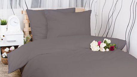 XPOSE ® Francouzské bavlněné povlečení MICHAELA - tmavě šedá 200x220, 70x90