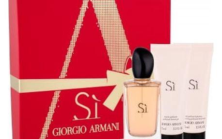Giorgio Armani Si dárková kazeta pro ženy parfémovaná voda 100 ml + tělové mléko 75 ml + sprchový gel 75 ml