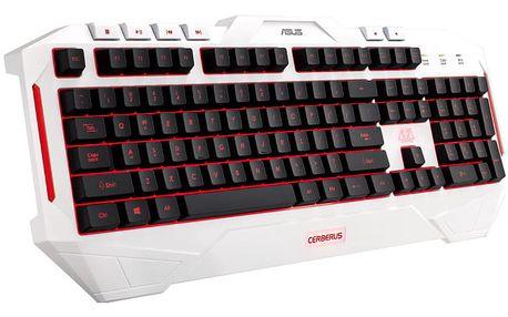 Klávesnice Asus Gaming, CZ/SK (90YH00V1-B2CA00) bílá
