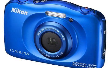 Digitální fotoaparát Nikon Coolpix W100 BACKPACK KIT (VQA011K001) modrý + DOPRAVA ZDARMA