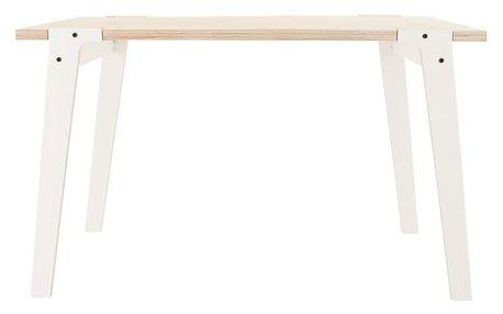 Bílý jídelní/pracovní stůl rform Switch, deska 122x63 cm - doprava zdarma!