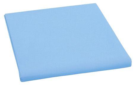 Bellatex plátěné prostěradlo, modrá, 150 x 230 cm