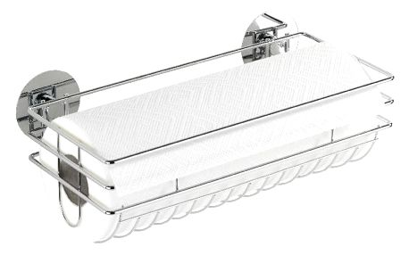 Samodržící držák na kuchyňské utěrky Wenko Turbo-Loc,až 40kg