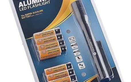 Baterie alkalická GoGEN LR03 ALKALINE 16, AAA, blistr 16 ks + svítilna (GOGR03ALK16LIGHT)