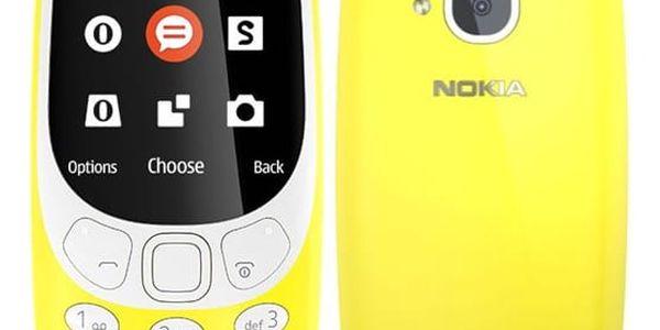 Mobilní telefon Nokia 3310 (2017) Dual SIM (A00028674) žlutý SIM karta T-Mobile SIM s kreditem T-mobile Twist V síti 200 Kč kredit v hodnotě 200 Kč