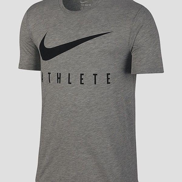 Tričko Nike DB SWOOSH ATHLETE TEE Šedá