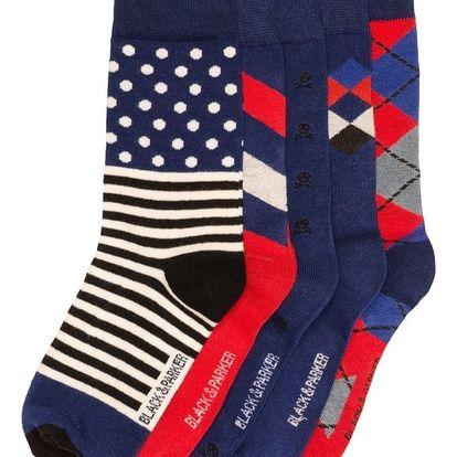 Sada 5 párů vysokých unisex ponožek Black&Parker London Potter,velikost37/43